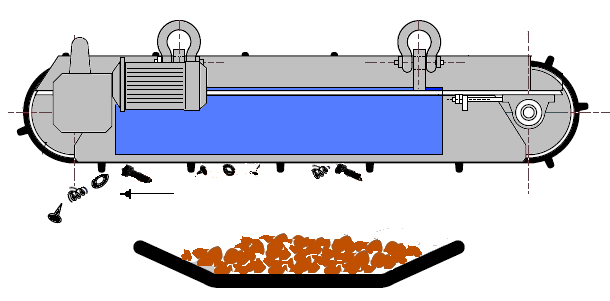 подвесные железоотделители с автоматической разгрузкой