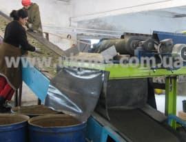 Вихретоковый сепаратор в составе в лини переработки стеклобоя