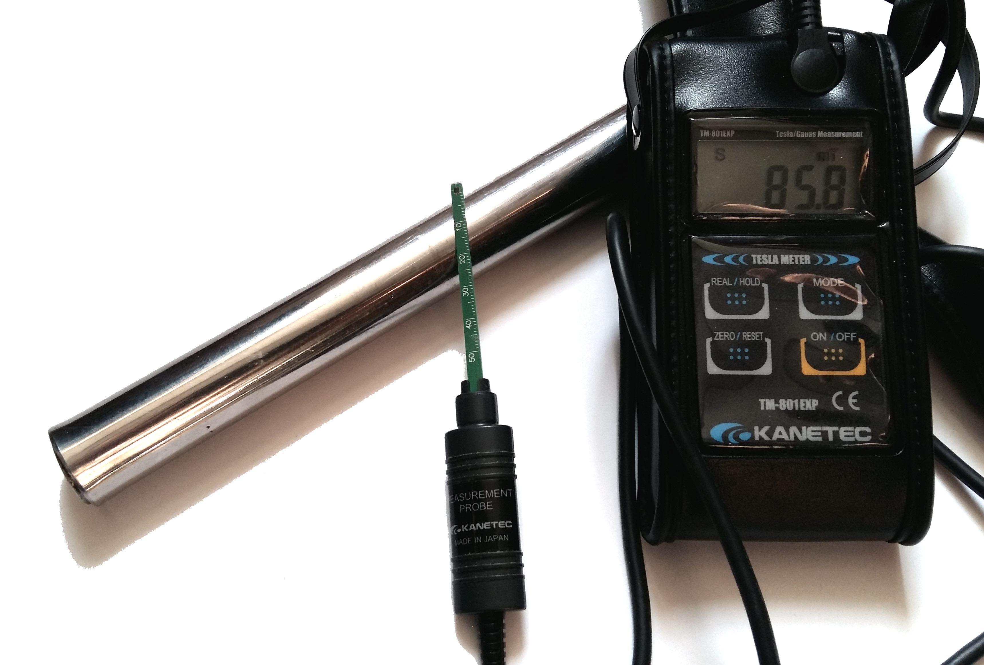 проверка магнитного сепаратора замеры магнитной индукции